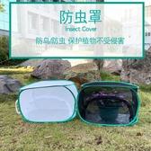 黑白防鳥罩迷你植物防蟲防貓家庭園藝用防蟲網多肉植物保護罩