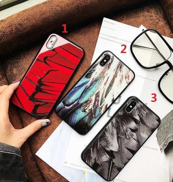 【SZ15】i6手機殼 個性羽毛玻璃殼 iphone plus手機殼 iPhone 7/8 plus手機殼 iPhone 7/8 手機殼