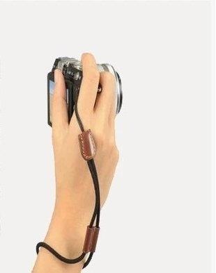 攝彩@單眼 微單相機 DC數位相機等 防丟 防摔手繩 手腕帶 手腕繩 滑動式皮環 自由調整手腕的寬度