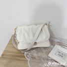 小方包 法國小眾設計2021夏新款手提包大容量褶皺小方包質感側背斜背女包 晶彩 99免運