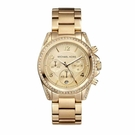 『Marc Jacobs旗艦店』美國代購 MK5166 Michael Kors  歐美時尚羅馬數字金色晶鑽三眼手錶|100%全新正品|