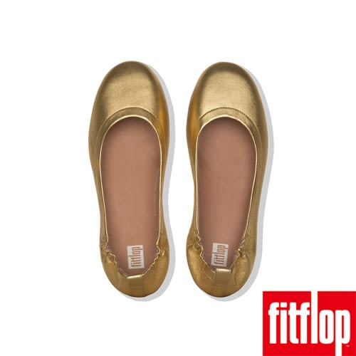 【FitFlop】ALLEGRO LEATHER BALLERINAS(黃金色)
