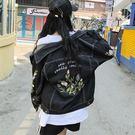 牛仔外套 2019秋冬款韓版牛仔外套女短款刺繡花朵字母小清新寬鬆版修身百搭