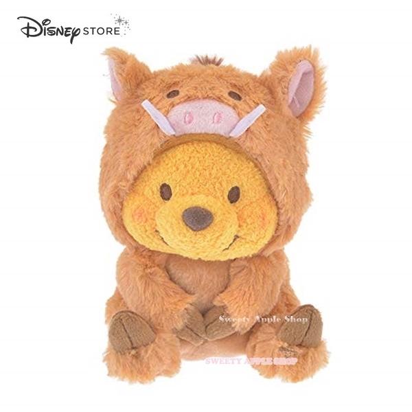 日本 DISNEY STORE 迪士尼商店限定 小熊維尼 新年 豬年 玩偶娃娃 15cm