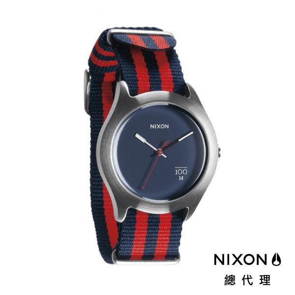 【官方旗艦店】NIXON QUAD 帆布錶帶 紅藍條紋 潮人裝備 潮人態度 禮物首選