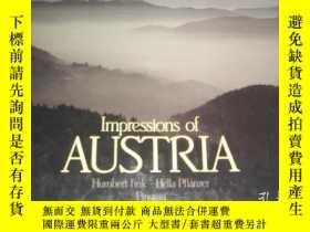 二手書博民逛書店Impressions罕見of AUSTRIA(奧地利印象,彩色
