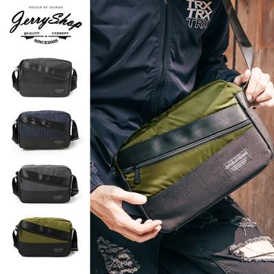 斜背包 JerryShop【XB05018】斜拉鍊造型側背包(4色) 外出包 流行包 休閒包 側背包