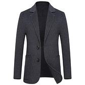 毛呢外套-簡約雙粒扣大口袋純色羊毛男西裝2色73yu16[巴黎精品]
