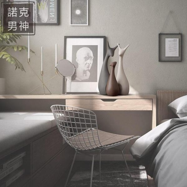 擺件 北歐擺件家居裝飾品酒櫃創意現代客廳陶瓷工藝品電視櫃結婚交換禮物 七夕情人節禮物