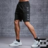 運動短褲男跑步健身速干休閒五分寬版冰絲大碼沙灘籃球褲【左岸男裝】
