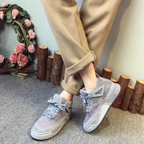 運動鞋靴子 明星款霧面內增高厚底運動休閒鞋 艾爾莎【TSB8652】