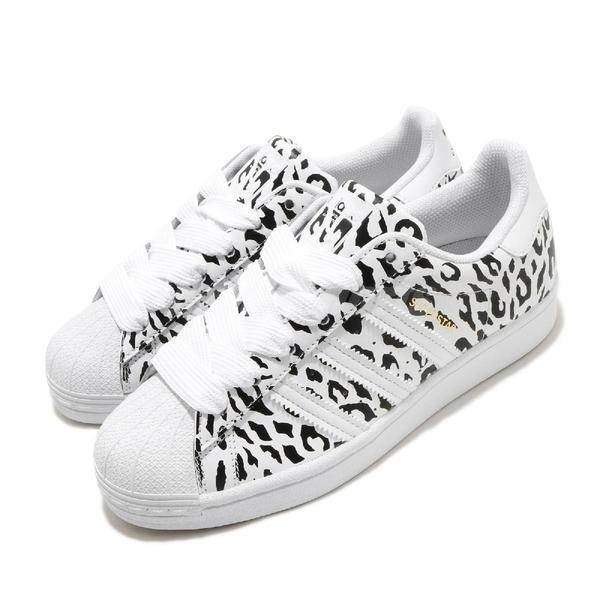 adidas 休閒鞋 Superstar W 白 黑 女鞋 貝殼頭 豹紋 運動鞋【ACS】 FV3451