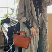 真皮側背包-純色植鞣牛皮小巧女手提包3色73yq5[時尚巴黎]