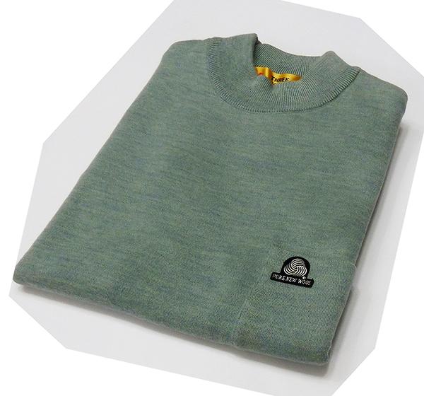 男士 針織毛衣 防縮 半高領毛衣 純羊毛衣 三燕牌羊毛上衣 美麗諾羊毛 100%純羊毛 7973-8 半高 淺綠
