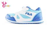 FILA 童運動鞋 穩定支撐 防臭墊 復古慢跑鞋N7671#藍色◆OSOME奧森鞋業