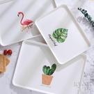 托盤 托盤塑料長方形家用北歐簡約收納端菜蛋糕面包水果盤茶盤小杯 【快速出貨】