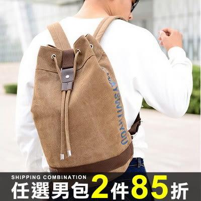 任選2件85折後背包韓版時尚運動耐磨帆布包大容量後背包【09T0220】
