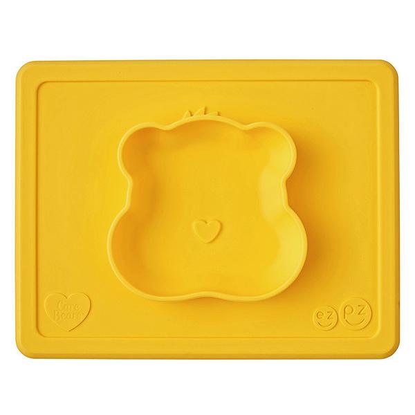 美國 EZPZ HAPPY BOWL Care Bears 聯名餐碗/餐具/安全/無毒/矽膠 貪玩熊