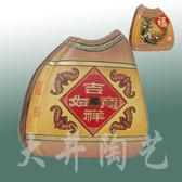陶藝禮物工藝品擺設擺件祝福瓶吉祥如意花瓶裝飾品