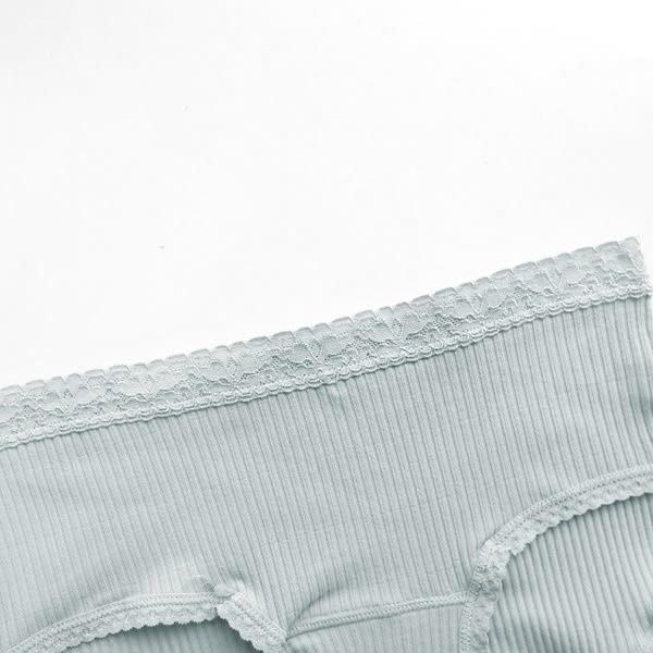 ★現貨★MIUSTAR 日系舒適蕾絲腰頭純棉螺紋內褲(共5色)【NF3745T5】