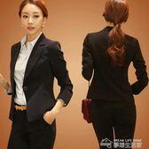 新款韓版潮修身休閒女式秋季小西服職業裝長袖大碼上衣外套  夢想生活家