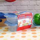 日本進口 食物保鮮盒 可微波 可冷凍 (2入組) 蓋子密封性好,不會跑味道出來【特價】★beauty pie★