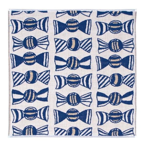 【日本製】【Pocchi】今治毛巾 手帕巾 三層紗質 糖果直線圖案(一組:10個) SD-4071-10 - 日本製