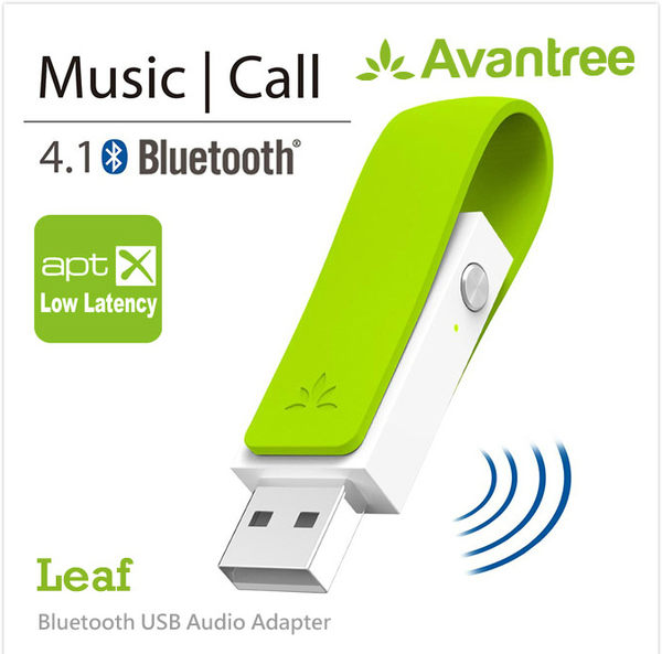 黑熊館 Avantree Leaf 低延遲USB藍牙音樂發射器(DG50- Leaf) 藍芽4.1 APTX-LL超