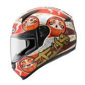 【東門城】ZEUS ZS811 AL35 達摩(白紅) 全罩式安全帽