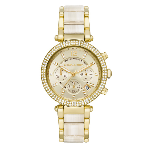 Michael Kors 閃耀時間三眼腕錶-金
