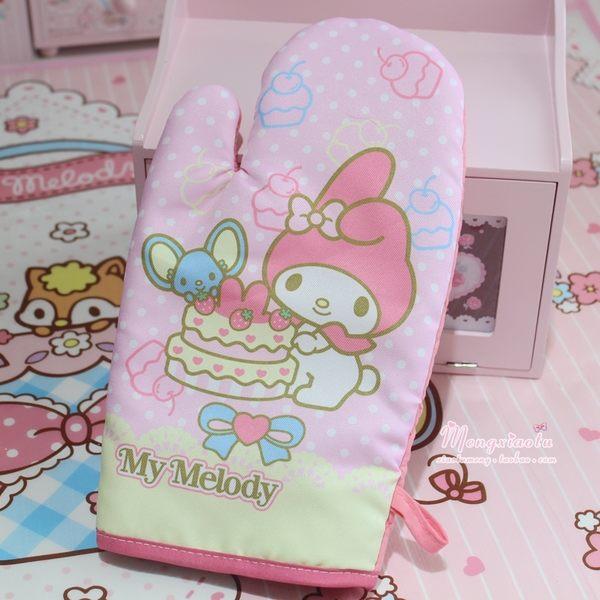 Star 日韓系列 - 可愛美萌美樂蒂 雙子星微波爐隔熱手套 烘焙烤箱手套