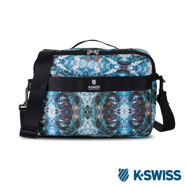 K-Swiss Shoulder Bag休閒斜背包-綠印花
