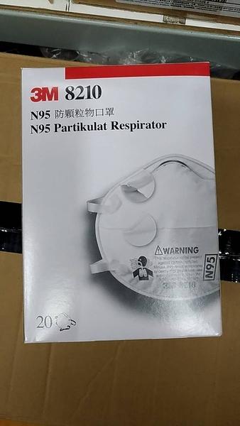 【醫碩科技】3M 8210工業防塵口罩N95等級微細粉塵20個/盒