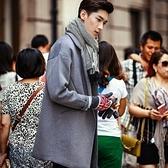 西裝外套-韓版寬鬆百搭時尚純色長版大衣72p28[巴黎精品]