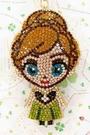 【震撼精品百貨】冰雪奇緣_Frozen~迪士尼公主系列亮片鑰匙圈/吊飾-安娜綠#27776