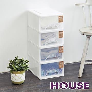【nicegoods】小純白四層收納置物櫃(9公升4層櫃) (收納櫃 抽屜櫃 衣櫃 塑膠 整理箱)
