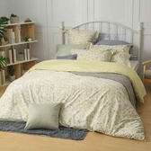 【金‧安德森】精梳棉《米亞_綠》床包四件組 (標準雙人)