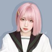 整頂假髮(短髮)-彩色可愛蓬鬆鮑伯頭女假髮3色73xx4[時尚巴黎]