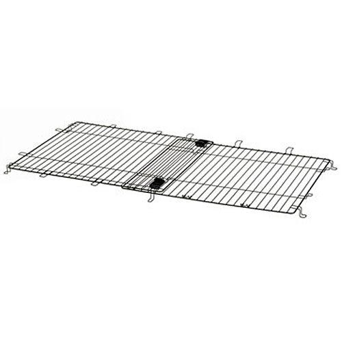 [寵樂子]《日本Richell》豪華原木加長型拉門式寵物圍籠 鐵網伸縮蓋板57091