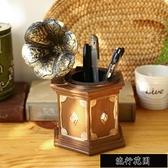 辦公桌擺件創意復古筆筒裝飾品擺件房間辦公桌電腦桌書桌個性小擺設飾品男生[【全館免運】]