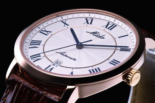 MIDO Baroncelli 羅馬假期自動腕錶M38903218玫瑰金色
