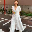 公主袖緹花長洋裝開衫 ♥ onetwo♥...