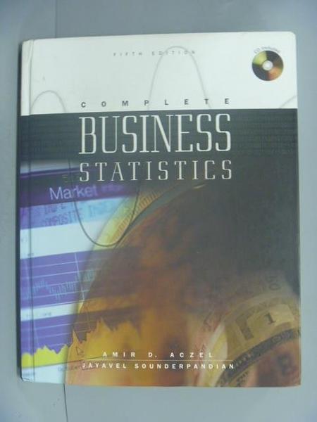 【書寶二手書T3/大學商學_ZBI】Business Statistics_Amir D. Aczel_附光碟