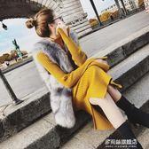 毛衣裙秋冬新款女裝中長款針織洋裝修身過膝一步打底毛衣裙包臂裙:多莉絲旗艦店