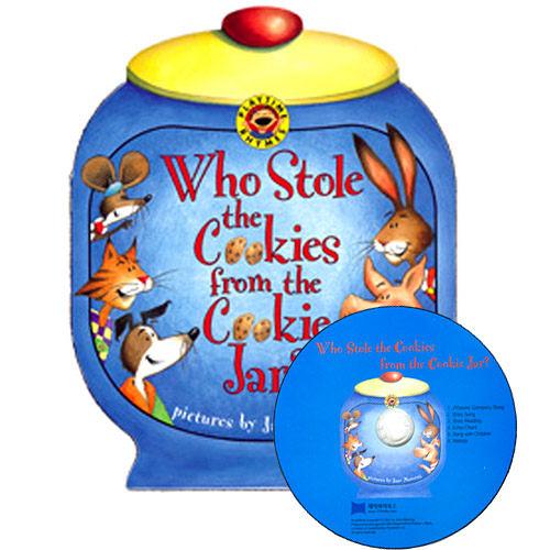 【麥克書店】WHO STOLE THE COOKIES FROM THE COOKIE JAR? /英文操作書+CD