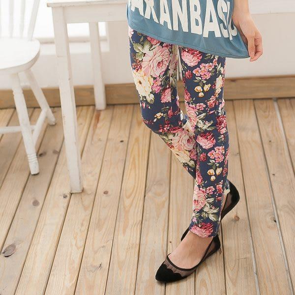 ☆NO.202SHOP【A7135】天藍~全尺碼~今夏一定要擁有韓風時尚款~彈力顯瘦花褲~大尺碼