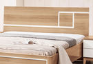 【森可家居】金詩涵5尺床片 7ZX136-5 雙人床頭片 木紋質感 無印風 北歐風