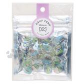〔小禮堂〕迪士尼怪獸大學 燙金果凍貼紙夾鏈袋組《藍綠》裝飾貼包裝 4935124 51365