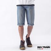 BIG TRAIN 基本款牛仔短褲-男-淺藍/深藍