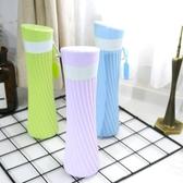 創意便攜硅膠水杯旅游戶外隨身可折疊水瓶耐摔運動水壺 町目家